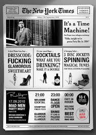 mad men party invitation u2014 kevin mitchell