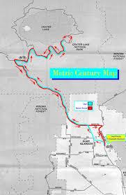 Crater Lake Oregon Map by Crater Lake Century Bike Ride U2014 Metric Ride Map U0026 Profile