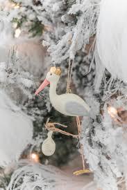 royal storks ornament white lilac inc