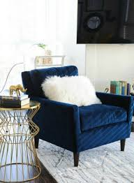 Blue Velvet Accent Chair Chairs Astonishing Blue Accent Chairs For Living Room Blue