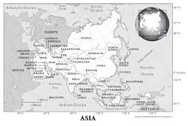 Blank Eurasia Map by Asia Physical Geography National Geographic Society