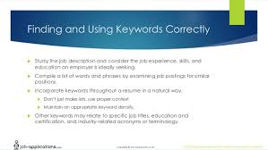 Resume Keywords List By Industry by Job Applications Com Resume Lesson Plan
