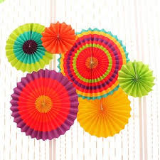 hanging paper fans 12 paper fan mexican birthday carnival kids