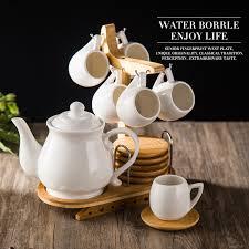 teapot set japanese style simple ceramic coffee tea cup set 1 teapot 6 cups 6