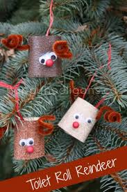 toilet roll reindeer ornaments happy hooligans