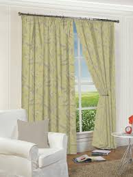 ottowa green lined pencil pleat curtains harry corry limited
