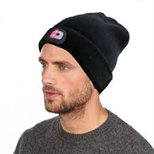 Knit Cap With Led Light Ezgo Hands Free Unisex Usb Rechargeable Led Knitted Beanie Hat