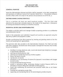 Office Clerk Job Description For Resume by Front Desk Job Description Image Gallery Of Nice Design Ideas