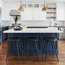 navy island kitchen traditional with brick exposed wood and metal
