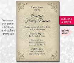 family reunion invitation family invitation family get