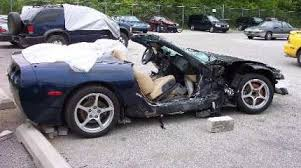 corvette car crash car crashes gallery ebaum s