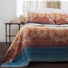 simply shabby chic bohemian patchwork quilt king blue white ebay