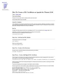Ssl Certificates Title How To Create A Ssl Certificate On Apache For Ubuntu 12 04