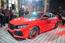 honda civic 2017 coupe 2017 honda civic si coupe prototype debuts at la auto show
