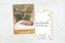 thank you card for baby shower 8 baby shower thank you cards design templates free