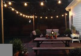 Backyard Patio Lights Brilliant Outdoor Patio Lighting String For Home Decor Ideas With