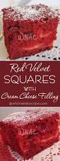 red velvet squares with cream cheese filling who needs a cape