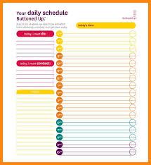 10 daily schedule template nurse resumed