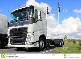 volvo lorry white new volvo fh truck editorial image image 33370330