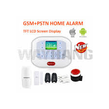 ios android app lcd smart touch keypad wireless wired gsm pstn