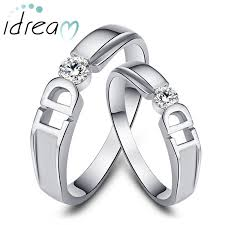 wedding bands for couples couples matching wedding rings sterling silver cubic zirconia his