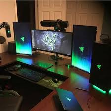Laptop Desk Setup Gaming Desk Setup Ideas