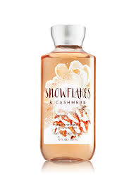 snowflakes and cashmere shower gel signature collection bath
