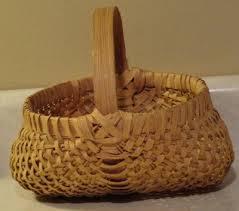 egg baskets split oak egg basket buttocks woven back roads living