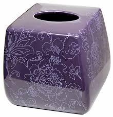 Lavender Bathroom Accessories by Botanica Purple Tissue Holder Tissue Cover