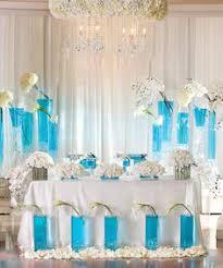 Tiffany Blue Wedding Centerpiece Ideas by Caribbean Islands Tiffany Blue Wedding Reception Centerpiece