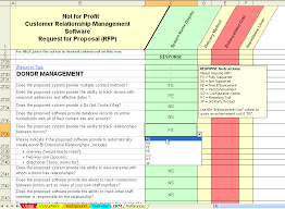 Vendor Management Excel Template Non Profit Customer Relationship Management Crm Software