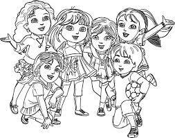 coloring pages dora friends