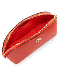 tory burch robinson makeup bag in red lyst