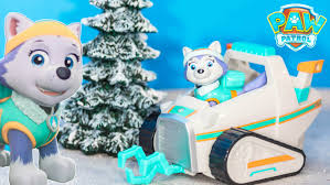 paw patrol nickelodeon everest snow mobile rescue vehicle toys