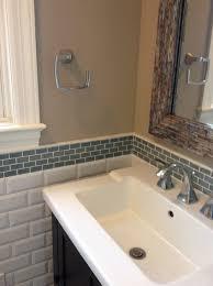 Glass Tile Backsplash Pictures Bathroom Turquoise Blue Powder - Tile backsplash bathroom