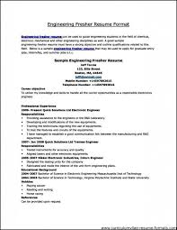 Sample Resume Formats For Freshers by Professional Resumes Format Newest Resume Format 25 Best Ideas