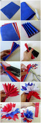 Homemade Home Decor Crafts Red White And Blue Pom Garland Memorial Day 4th Of July Diy