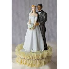 wedding cake toppers tulle and rhinestones wedding cake topper