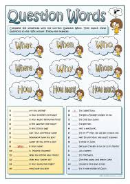 149 free esl question words worksheets