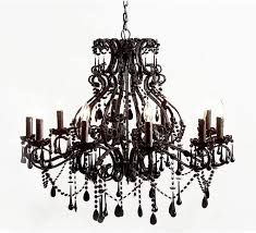 French Chandeliers Uk Sassy Boo Large Black 10 Arm Chandelier French Chandeliers