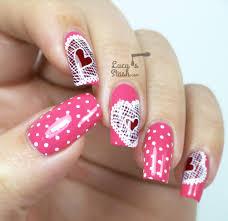 lace hearts nail art valentine u0027s day design lucy u0027s stash