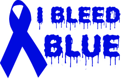 blue support ribbon i bleed blue support ribbon vinyl decal r4458 3 47 decal