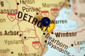 Map Of Metro Detroit by Map Of Detroit Michigan Metro Area Stock Photo Picture And