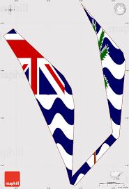 Indian Ocean Map Flag Simple Map Of British Indian Ocean Territory