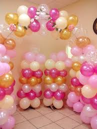 balloon decor available at party city colors baby pink