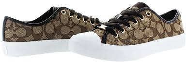 Are Coach Shoes Comfortable Amazon Com Coach Womens Empire Outline Sneaker Fashion Sneakers