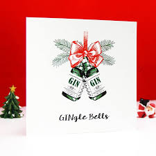 humorous christmas cards gingle bells gin christmas card by of lemons