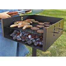 guide gear heavy duty park style charcoal grill extra large