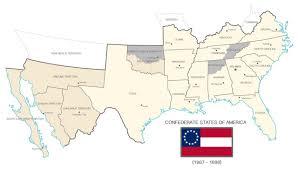 Civil War States Map American Civil War New Confederate States Of America Map In Usa