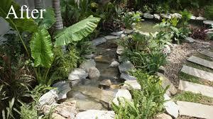 Tropical Rock Garden Sloping Tropical Built With Rock Thai Garden Design